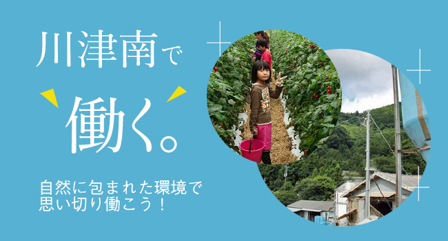 川津南で働く。